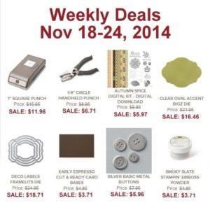 Weekly Deals Nov 18