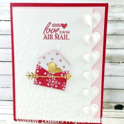 """Love is in the Air """"Mail"""" with Love Notes Framelits"""