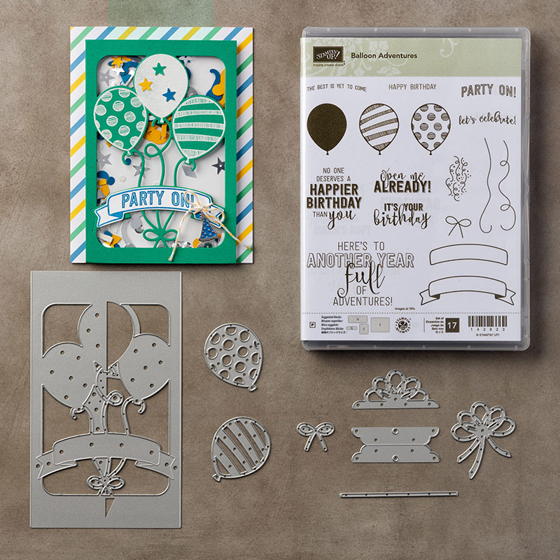 Balloon Adventures Bundle By Stampin Up