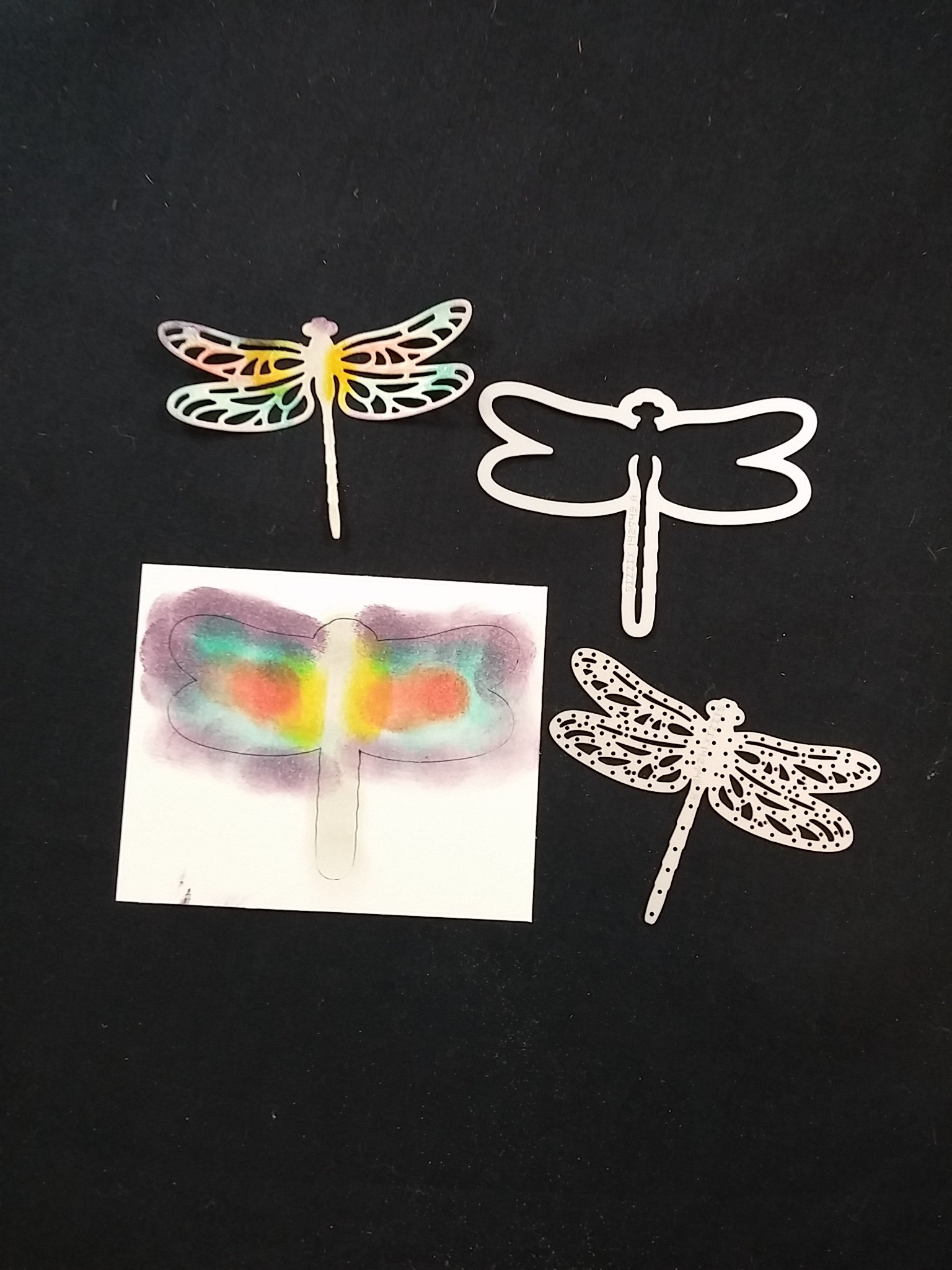 Double Embossing Technique Using Dragonfly Dreams Thinlits