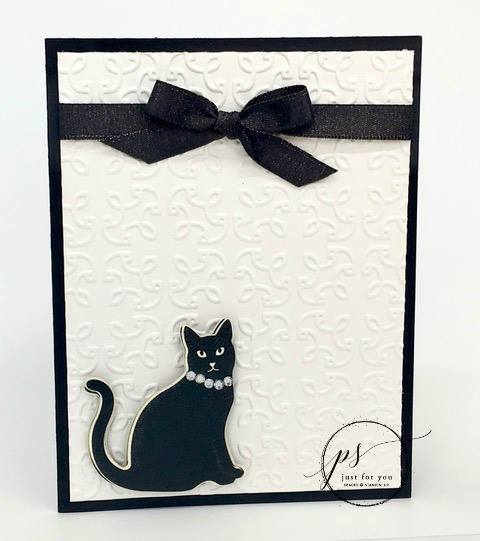 Elegant Kitty Using Stampin' Up! Cat Punch
