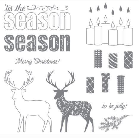 Merry Patterns Stamp Set - Exclusive for September and October Only!