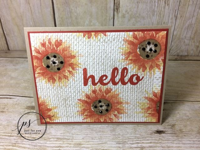 Painted Harvest With Burlap Background