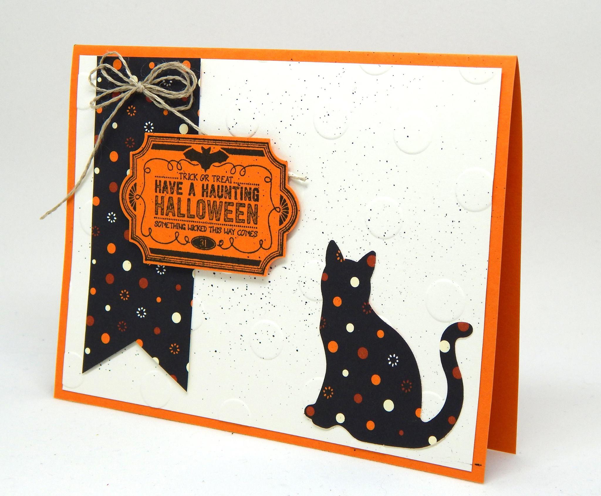 Polka Dot Spooky Cat - 12 Weeks of Halloween Week 8