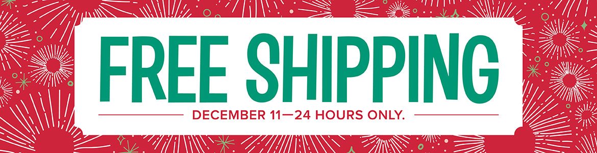 FREE SHIPPING is Back for 24 Hours Only!