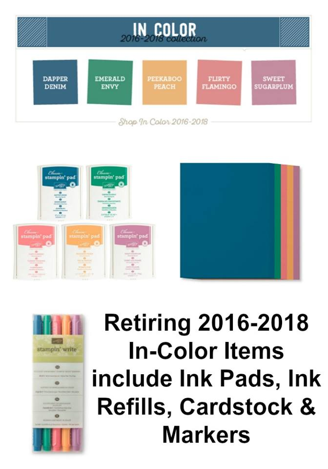 Retiring Stampin' Up! 2016-2018 InColor Collection