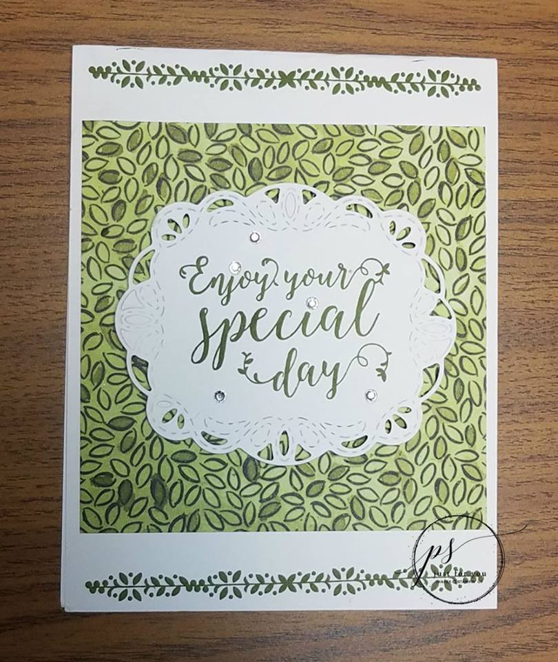 Green With Envy - LOVE the new Stampin' Up! Green Hues