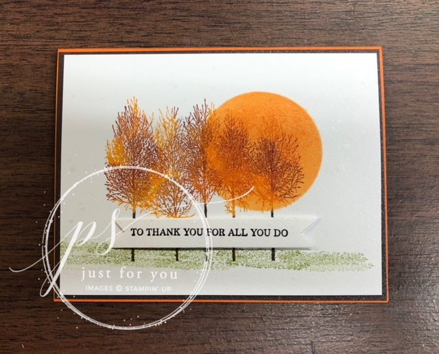 Winter Woods Fall Thank You Card