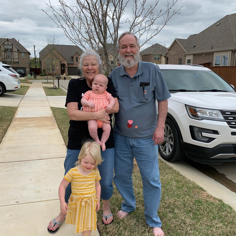 spending time with grandchildren
