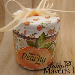 treat jar with Sweet as a Peach Stamp set by Stampin' Up!