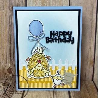 birthday card using stmapin up hey birthday chick